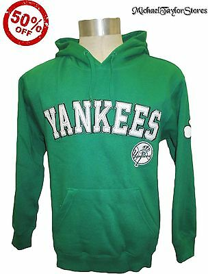 New York Yankees Men S M L XL 2XL Pullover Hooded Sweatshirt MLB Green