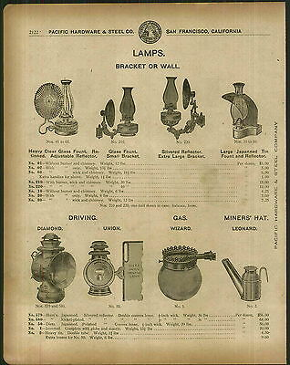 1912 ADVERTISEMENT Dietz Diamond Union Driving Lamps Leonard Miners' Hat Lamps