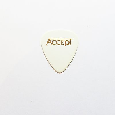 ACCEPT  WHITE & GOLD print Guitar plectrum pick medium thickness