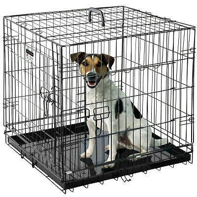 """Pet Trex 24"""" Folding Pet Crate Kennel Wire Cage for Dogs - Cats or Rabbits"""