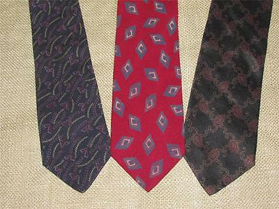Lot of 3 THREE Mens GIORGIO ARMANI Italian Silk Ties Necktie Neckwear