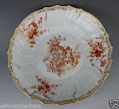 RARE Royal Porcelain Manufactory KPM Painted Putti Flowers Large Serving Bowl