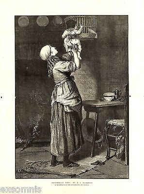 1876 - Th - Mutter Mit Kind - Vogel  (22379)