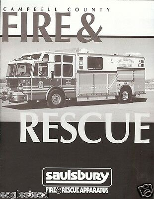 Fire Equipment Brochure - Saulsbury - Campbell County Lynchburg VA 1995 (DB123)