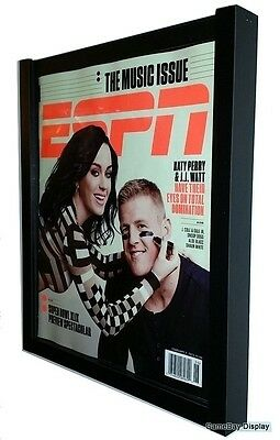 Magazine Display Frame Case Black Shadow Box ESPN Rolling Stone A