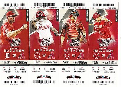 2014 Arizona Diamondbacks Pick Your Game Goldschmidt Hr Ticket Stub Many Dates