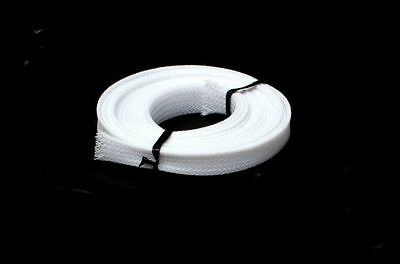 White PC Computer Cable Sleeving Braiding - 3 metres x 9mm
