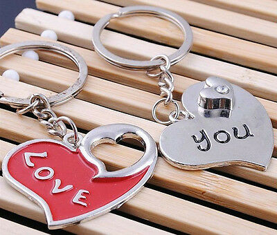 A couple keychain Fashion Metal couples keychains Key Ring for lover F169
