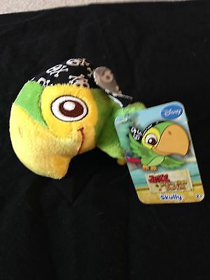 "Disney Jake And The Neverland Pirates Skully  7"" Plush Doll Nwt"