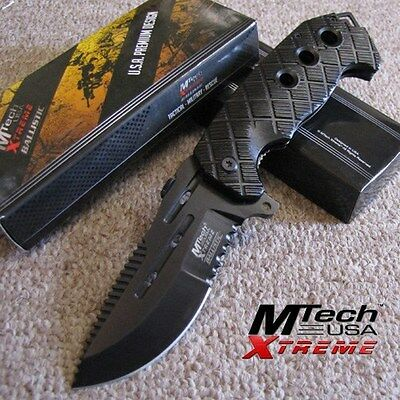 MTech Xtreme - COMMANDER - Tactical SPRING Assisted Folding KNIFE MX-A819BK BLK