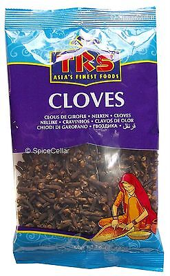 Cloves - Whole Spice - 1 x 50g  Bag - TRS Brand