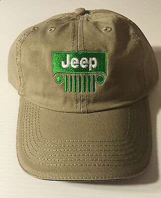 JEEP Grill Ball Cap  Khaki FREE SHIPPING