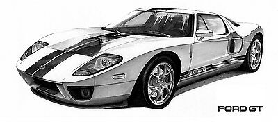 Ford Gt The New Gtxautomotive Wall Art