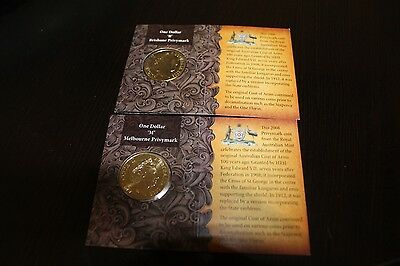 MINT NEW 2008 COAT OF ARMS $1 UNC B + M PRIVYMARKS UNFOLDED
