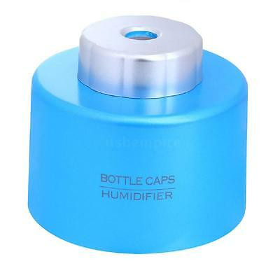 USB Portable Water Bottle Cap Humidifier Office Air Aroma Mist Maker Blue US