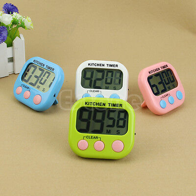 LCD Digital Kitchen Large Cooking Timer Count Down Up Clock Alarm Loud Magnetic
