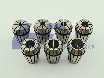 "ER20 7 PCS Spring Collet Set 1/8 - 1/2"" for CNC milling Lathe w/ 3/16 5/16 7/16"""