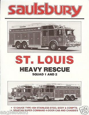 Fire Equipment Brochure - Saulsbury - Heavy Rescue - St. Louis (DB155)