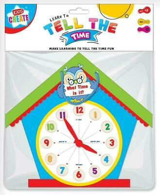 Learn To Tell The Time Clock Owl Shaped Childrens Educational Learning Toy Eclo