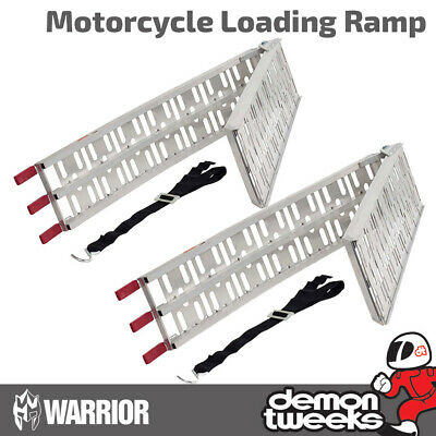 2 x Warrior Folding Aluminium Motorcycle / Bike / Motorbike / MX Loading Ramps