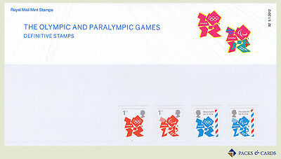 2012 Olympic Paralympic Games Definitive Stamp Presentation Pack PPD117 (no.92)