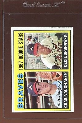 1967 TOPPS #179 BRAVES ROOKIES EXMT INK STAIN BACK *85366