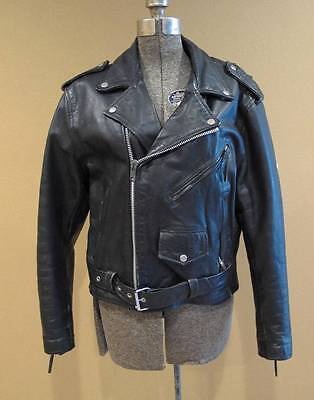 Vintage Women's Leather New Age Motorcycle Jacket Size 42