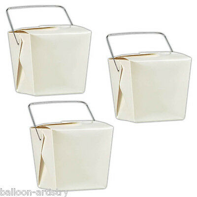 12 Classic White Pearlised Party Loot Wedding Favour Gift Pails Boxes