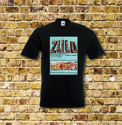Zulu Film T Shirt Black or White or Red