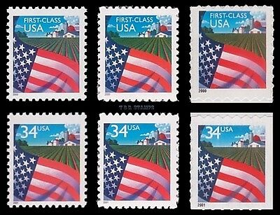 3448 3449 3450 3469 3470 3495 Flag Over Farm 34c Complete Set of 6 MNH - Buy Now