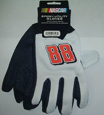 NEW Dale Earnhardt Jr 88 GLOVES adult SZ Racing Work Yard Tailgate Party NASCAR