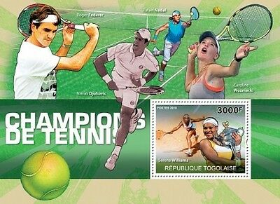 Togo - Tennis Players -  Stamp S/S 20H-181