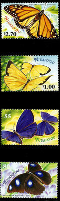 Tonga Niuafo'ou 2000 Butterflies on Stamps 4 Stamp Set 20M-029