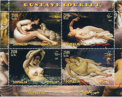2003 Gustave Courbet Paintings on Stamps - 4 Stamp Sheet - 19B-176