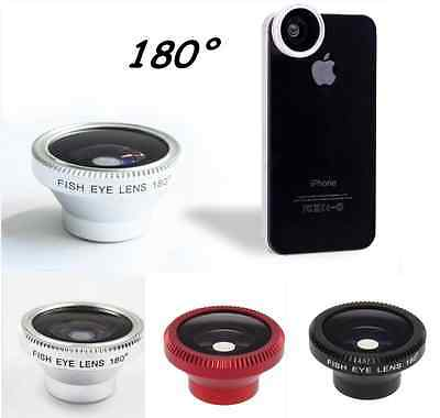3 Colors Magnetic Wide 180°Detachable Fish Eye Lens for Apple iPhone 4 4S
