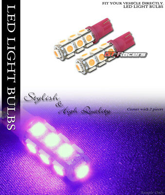 2X Pink T10 Wedge 5050 13 Count Smd Led Light Bulbs Car Parking/turn Signal/tail