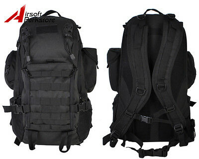 35L Tactical Military Hiking Camping Outdoor Molle Day Backpack Laptop Bag Black