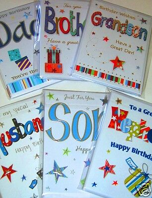 STUNNING MALE RELATION CARDS by 'ECLIPSE' x 66, JUST 36p!,inserts-wrapped-foiled