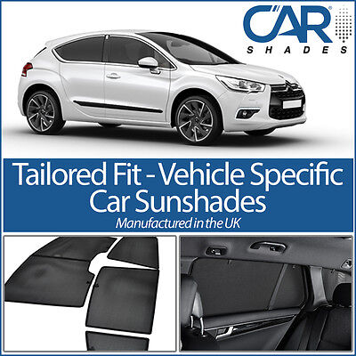 Citroen DS4 2010 On UV CAR SHADES WINDOW SUN BLINDS PRIVACY GLASS TINT BLACK