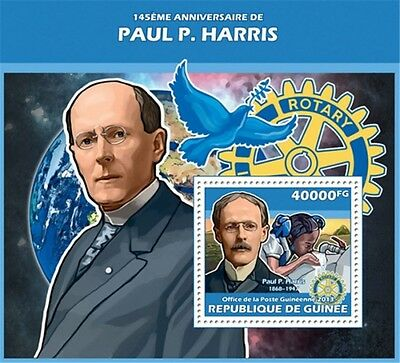 Guinea - 2013 Paul P. Harris 145th Anniversary-Souvenir Sheet-7B-2315