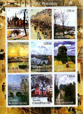 Camille Pissarro Paintings 9 Stamp  Sheet 20D-010