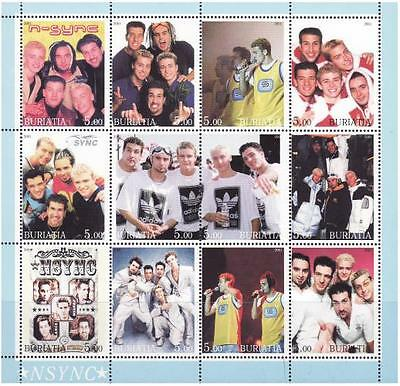 'NSYNC On Stamps - 12 Stamp Mint Sheet - 2A-006