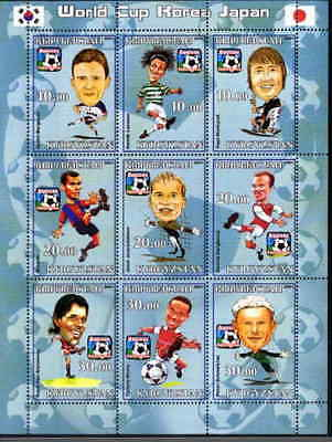 World Cup 2002 Football Players on Stamps - 9 Stamp  Sheet - 5802
