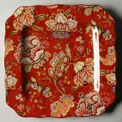 222 Fifth GABRIELLE Red Square Dinner Plate 8784837