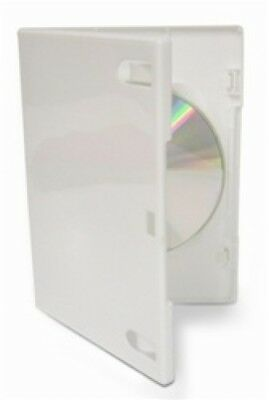 50 PREMIUM STANDARD Solid White Color Single DVD Cases (Professional Use)