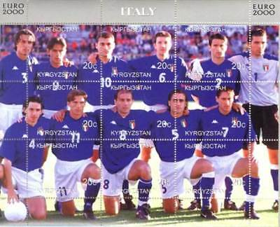 Italy Soccer Team -  Sheet of 9 Stamps - 11A-020