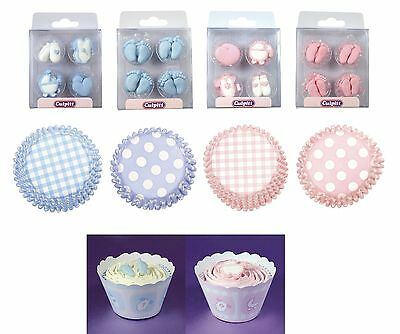 New Baby & Christening BAKING Decorations (Boy/Girl/Party/Celebration)(Culpitt)