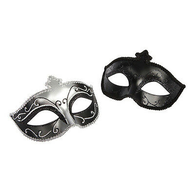 Fifty shades of grey - Masken Set  in schwarz Glitzer 2 Stück ORIGINAL OVP NEU