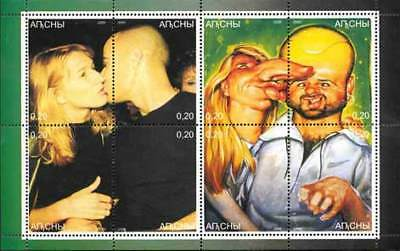 Andre Agassi and Steffi Graf on Stamps - 8 Stamp  Sheet 557