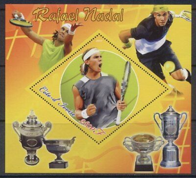 Ivory Coast - Nadal & Tennis -  Stamp S/S 9A-049